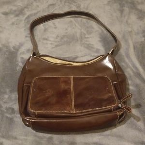 Kim Rogers brown leather purse/ bag/ tote